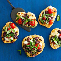 Double-Cheese Pizzas with Fire-Roasted Tomatoes