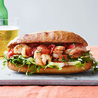 Sicilian Shrimp Po Boys