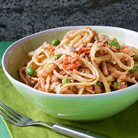 Nutty Asian Noodles with Carrots & Edamame