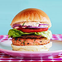 Asian-Style Salmon Burger BLTs