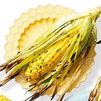 Tarragon-Buttered-Basted Corn on the Cob