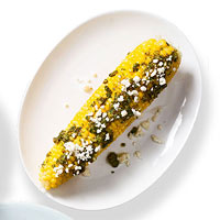 Jalapeno Pesto & Cotija Cheese Corn on the Cob