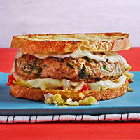 Sausage with Broccoli Rabe Patty Melts