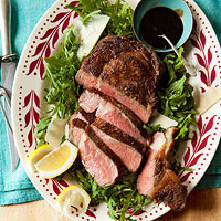 Steak with Arugula & Tangy Glaze