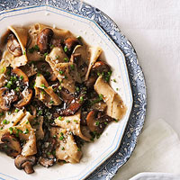 Whole Wheat Maltagliati with Mushrooms & Chives