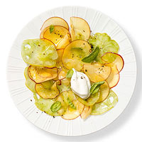Green Tomato & Peach Carpaccio