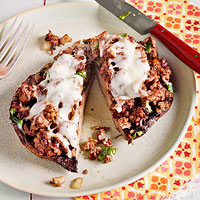 Beef & WatercressStuffed Portobello Mushrooms