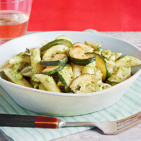 Zucchini & Penne with Hot Pepper Pesto