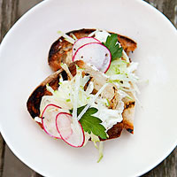 Grilled Bread with Ricotta & Radishes