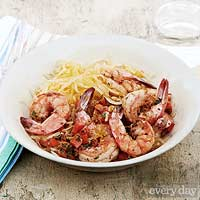 Skinny Shrimp Scampi with Spaghetti Squash