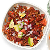 Beefy Chorizo Chili