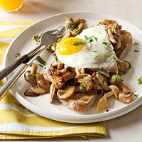 Mushroom & Egg Toasts