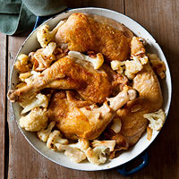 Roasted Chicken & Cauliflower
