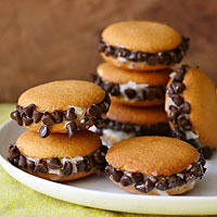 Choco-Coconut Cookie Sandwiches