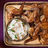 Spiced Wings with Yogurt Sauce