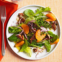 Clementine, Date and Walnut Salad