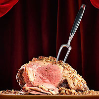 Pecan-Crusted Beef Rib Roast