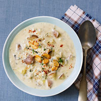 New and Improved England Clam Chowder