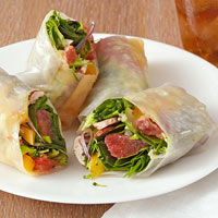 Citrusy Vegetable Wraps