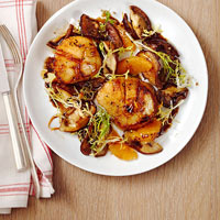 Seared Scallops with Shiitakes