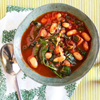 Chard, Bean and Sausage Stew