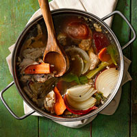 Hearty Roast Chicken Stock