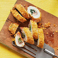 Cornflake Chicken Cordon Bleu
