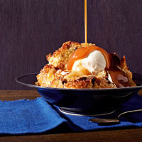 Caramel-Banana Bread Pudding