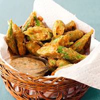 Apps in a Snap: Battered Okra Bites