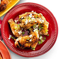 Baked Buffalo Queso-Fresco Wings