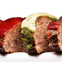 Arugula Pesto Meatloaf