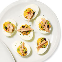 Nicoise Deviled Eggs