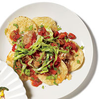 Bean and Chorizo Nachos