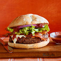 Tex-Mex Bacon Cheeseburger with Chipotle Ketchup