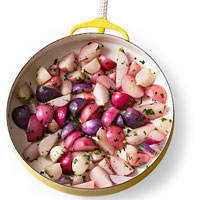 Sauteed Radishes with Herbs