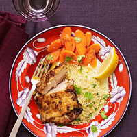 Moroccan Chicken with Honeyed Carrots