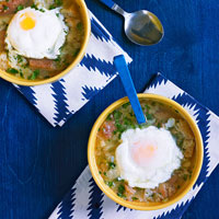 Garlic Soup (Sopa de Ajo) with Poached Eggs