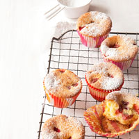 Strawberry Cornmeal Cupcakes