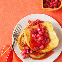 Rhubarb French Toast
