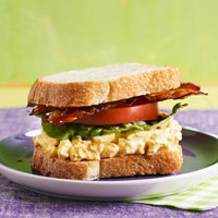 BLT and Deviled Egg Salad Sandwiches