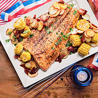 Smoky Salmon Bake
