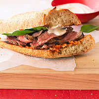 Grilled Habanero Steak Sandwiches
