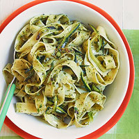 Tagliatelle with Zucchini and Mint Pesto