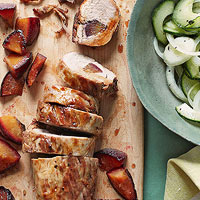 Plum-Studded Pork Tenderloin