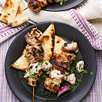 Grilled Chicken Tikki Skewers
