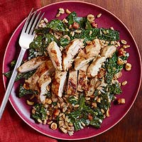 Pearled Farro with Hazelnuts & Greens