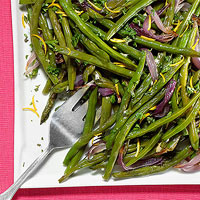 Onion & Gremolata Green Beans