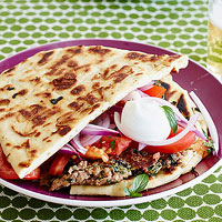 Curried Lamb or Turkey Sandwiches on Naan Bread