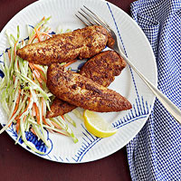 Blackened Chicken with Broccoli Slaw