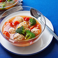 Chicken Meatball & Vegetable Soup